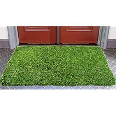 Kuber Industries PVC 45 MM Artificial Grass Door Mat - 24inch x 15inch, Green (Grass0114)
