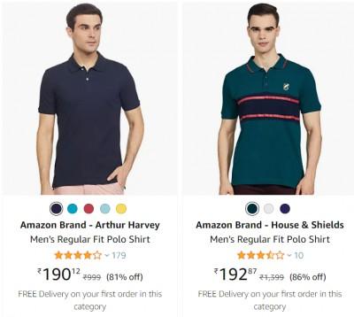 Men's T-Shirts Minimum 70% Off