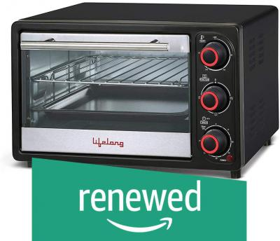 (Renewed) Lifelong 16L 1200-Watt Oven Toaster Griller (Black)