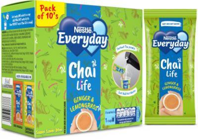Nestle Everyday Chai Life Ginger, Lemon Grass Instant Tea Box