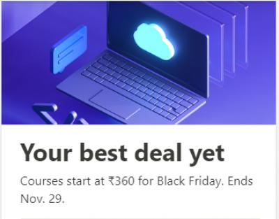 Udemy Courses at Rs. 360 on Black Friday Sale