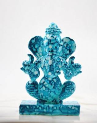 CRAFTFRY Ganesha Idol for Gift Double face Ganesha in Multi Color in Temple Decorative Showpiece