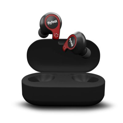 Flybot Active True Wireless Bluetooth 5.0 Earphones with mic and Charging case | IPX7 Waterproof Sports Headset