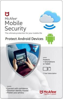 McAfee Mobile Security 1 User 1 Year