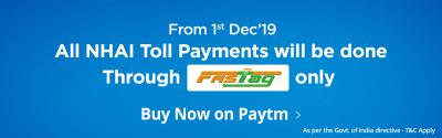 Get Free Fastag for your Car and Get 2.5% Cashback on all Toll Payment
