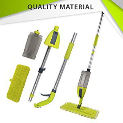 Smile mom 4 in 1 Aluminium Multi Spray Mop with Broom and Dustpan, Window Cleaner and Squeegee/Wiper