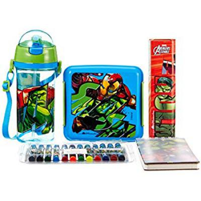 Marvel Spider Man Back to School Stationery Combo Set, 999, Multicolor
