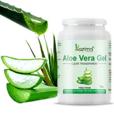 Aloe Vera Gel Raw - 100% Pure Natural Gel - Ideal for Skin, Face, Acne Scars, Hair, Moisturizer & Dark Circles (1 KG)