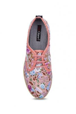 Get Glamr Liz Pink Derby Shoes