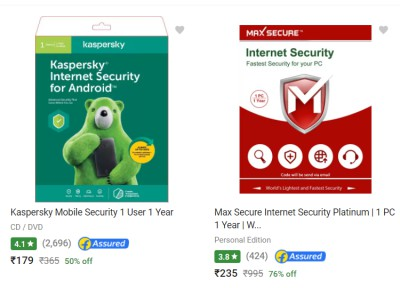 Max Secure Antivirus - Upto 80% off on Security Softwares