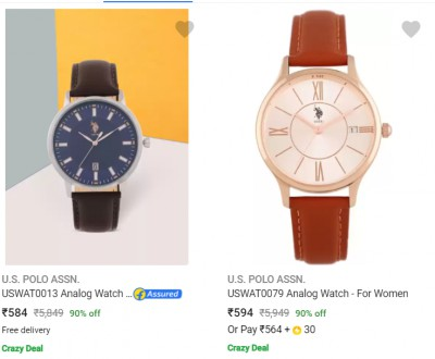 U S Polo Assn Wrist Watches at 70% off