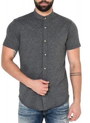 GRITSTONES Mens Cotton Half Sleeve Shirt