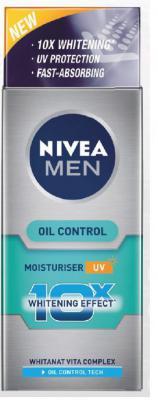 NIVEA MEN Moisturiser, Oil Control, 50ml