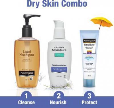 Neutrogena Dry Skin Combo  (3 Items in the set)