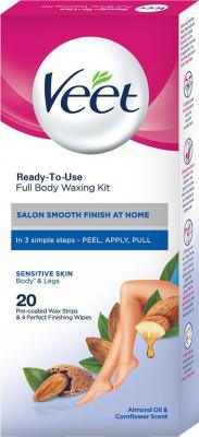 Veet Full Body Waxing Kit Sensitive Skin Strips