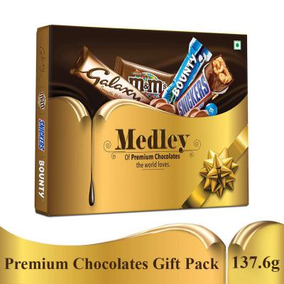 SNICKERS Medley Assorted Chocolates Diwali Gift Pack (Snickers, Bounty, M&M's, Galaxy)