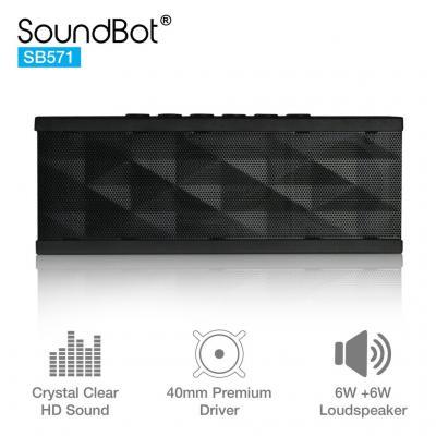 SoundBot SB571 12W Bluetooth Speakers (Black)