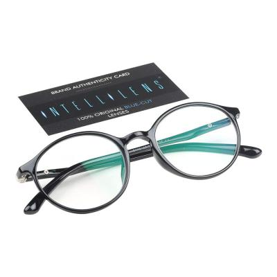 Intellilens Premium Blue Cut Zero Power Round Spectacles with Anti-glare for Eye Protection from UV