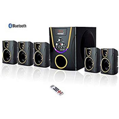 Vemax Posh 5.1 Bluetooth Multimedia Speaker Home Theater System with FM, USB, AUX (Black & Golden)