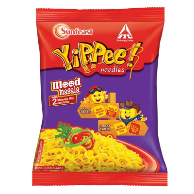 Sunfeast Yippee Mood Masala Noodles Single Pack, 70g