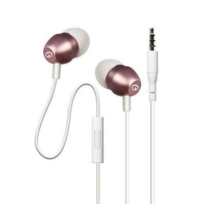 Amkette Trubeats X9 Metal in- Ear Earphones with Mic and Remote Control (Rose Gold)