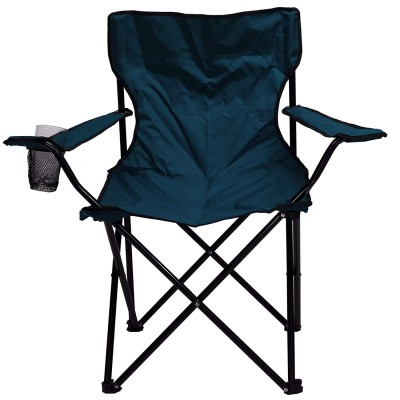 Story@Home Quad Metal Foldable Camping Chair (Red)