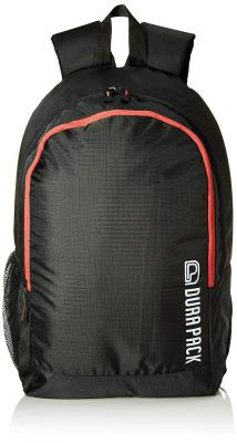 DURAPACK Metro Uno 22 Ltrs Black/Red Casual Backpack (MUBLRD)