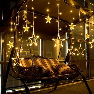 Citra LED Curtain String Lights with 12 Stars and 138 Pieces and 8 Modes Lights