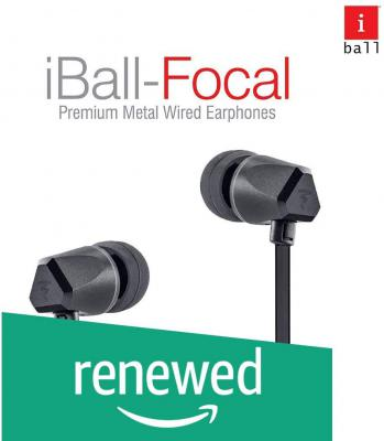 (Renewed) iBall Focal in Ear Wired Earphones - Black
