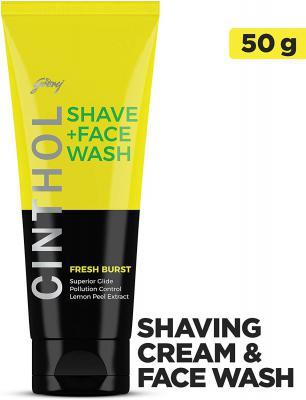 Cinthol Shaving + Face Wash, Fresh Burst, 50g