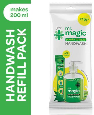 Godrej Protekt Mr. Magic Powder-to-Liquid Handwash Refill, (makes 200ml)