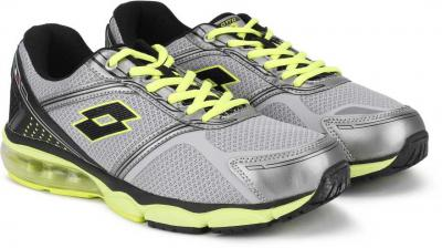 Lotto WICHITA GREY/BLK/LIME RUNNING SHOES For MEN 6 Running Shoes For Men (Grey)