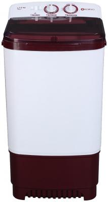Koryo 7.5 kg Semi automatic top load Washer only - KWM7819WSA , White & Maroon