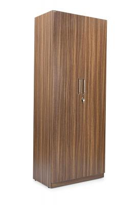 Trevi Split 2-Door Wardrobe Without Mirror (Suede Matte Finish, Indiana Teak)