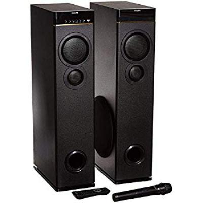 Philips SPA9080B Bluetooth Multimedia Tower Speakers with Mic for Karaoke