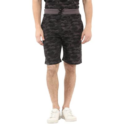 Urbano Fashion Mens Camouflage / Military Printed Grey Cotton Shorts