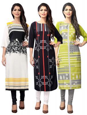 1 Stop Fashion Women's crepe straight Kurta (Pack of 3)