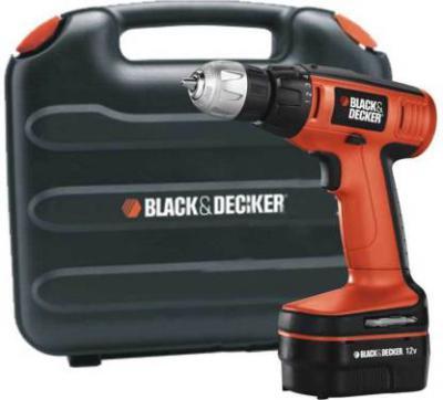 Black & Decker EPC12K2 Cordless Pistol Grip Drill (10 mm Chuck Size)
