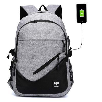 Fur Jaden Anti Theft Waterproof USB Charging 25 Ltrs Grey Casual Backpack