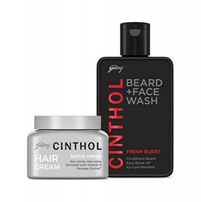 Cinthol Hair Matte Finish and Beard Fresh Burst Combo