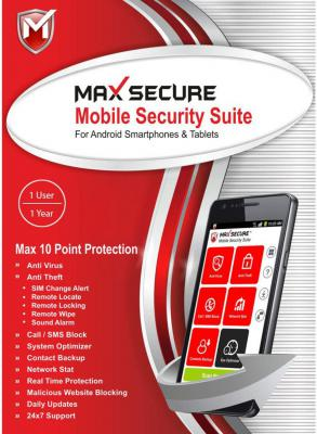Max Secure 1 Smartphone 1 Year Mobile Security