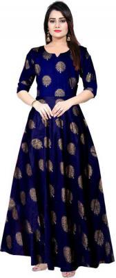 Trendy Fab Women Fit and Flare Dark Blue Dress