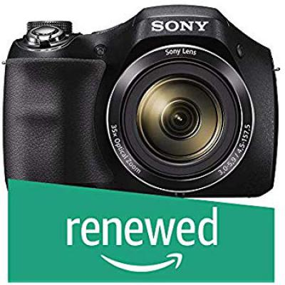 (Renewed) Sony DSC-H300B 20.1MP Cyber-Shot Point and Shoot Digital Camera with 35x Optical Zoom with Memory Card