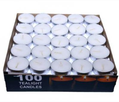 Paras candle tealigh candle white pack of 100