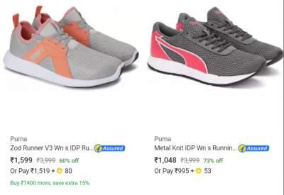 Min.60% off on Top Brands Women's Footwear