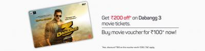 Rs.200 Dabangg 3 Movie Voucher at Rs.100