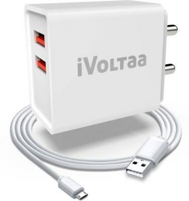 [Prebook] iVoltaa FuelPort 2.4 2.4 A Multiport Mobile Charger with Detachable Cable  (White, Cable Included)