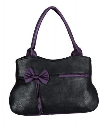 Fristo Women Handbag Black and Purple(FRB-051)