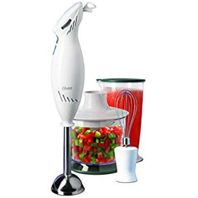 Oster 2616 250-Watt 2 Speed Hand Blender with Attachment (White)
