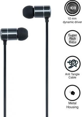 Gunter & Hanke Bassmax 500 Wired Headset with Mic  (Black, In the Ear)